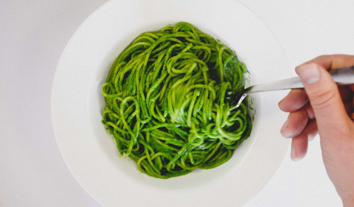 Spaghetti with Cavolo Nero & Almonds