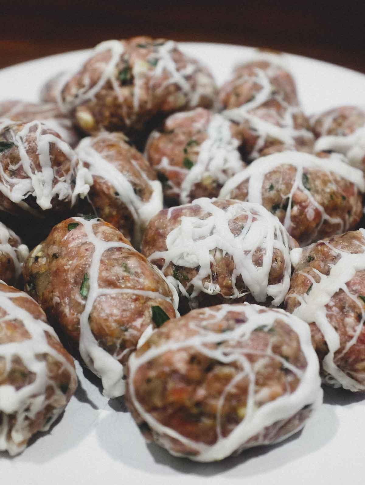 Lamb Kofta Kebabs with Caul Fat