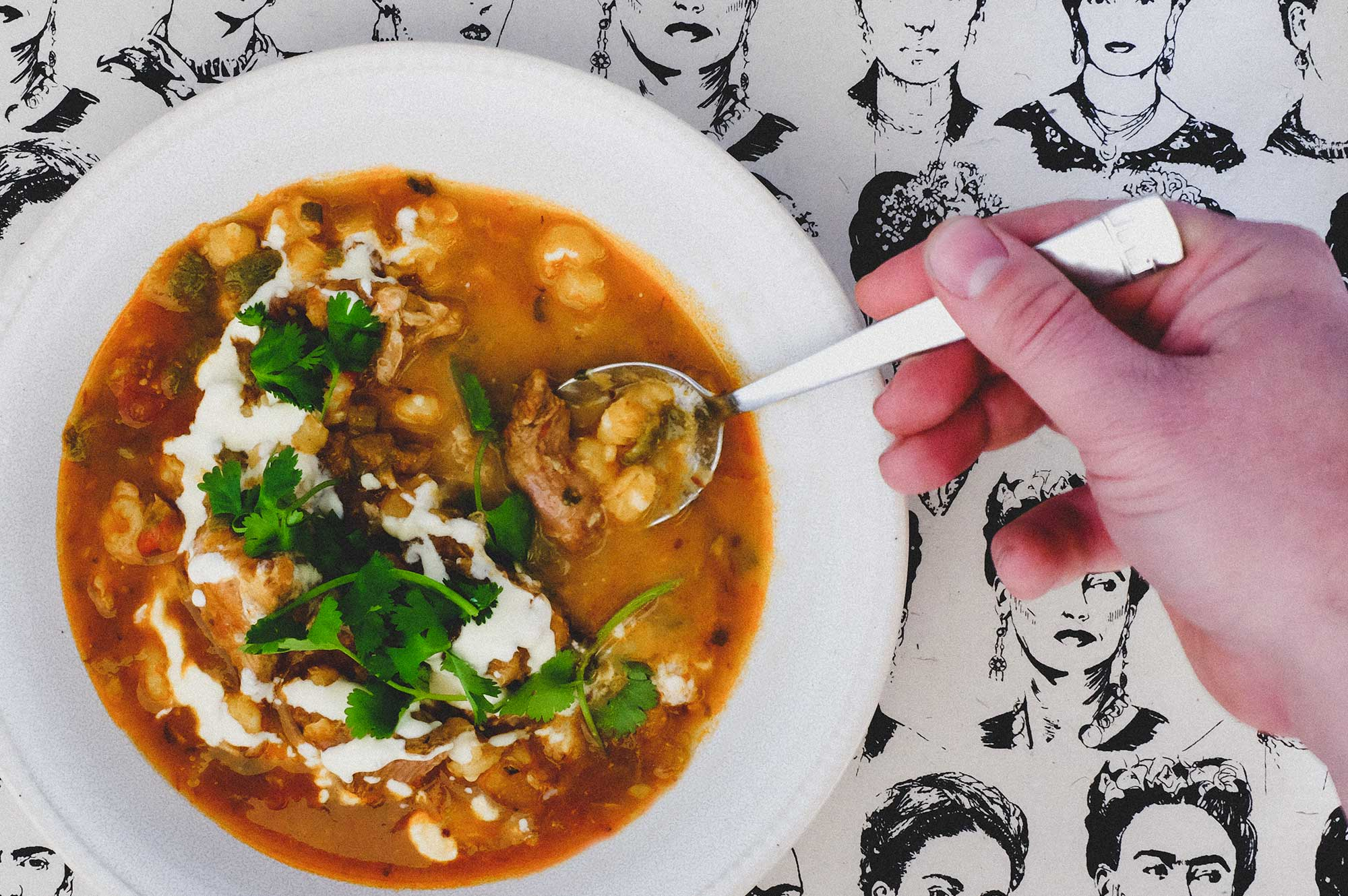 Posole - Mexican Pork & Hominy Soup