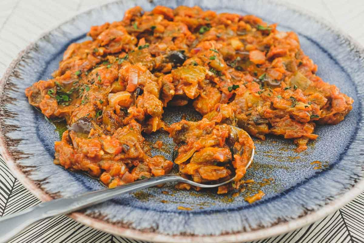 Spanish Eggplant Salad