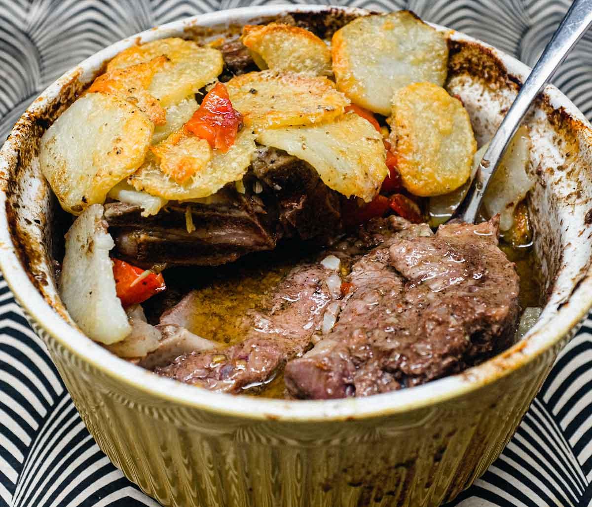Italian Baked Lamb & Potatoes