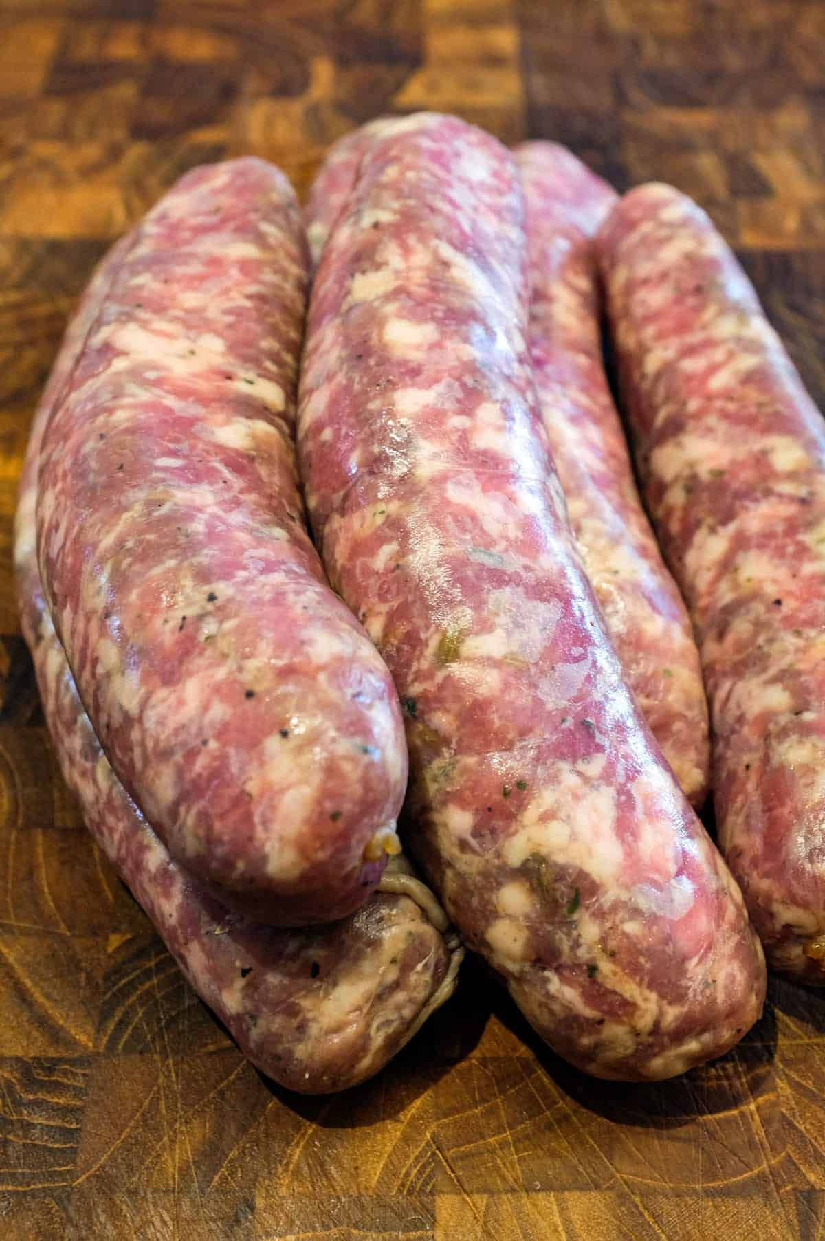 Italian sausage in a pile
